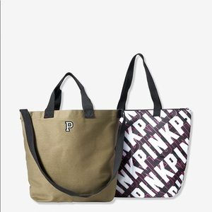 NWT Pink Victoria's Secret Insulated Tote 2 Totes!